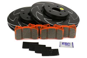 EBC Brakes S7 Front Brake Kit Orangestuff Pads and BSD Rotors - Subaru STI 2005-2017