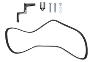Torque Solution Reversed Intake Manifold Alternator Relocation Bracket Kit Black - Subaru WRX 2002-2014 / STI 2004+