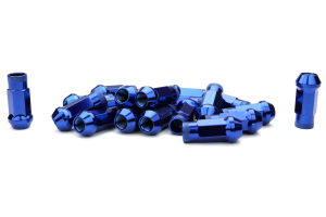 Muteki SR48 Chrome Blue Open Ended Lug Nuts 12X1.50 - Universal