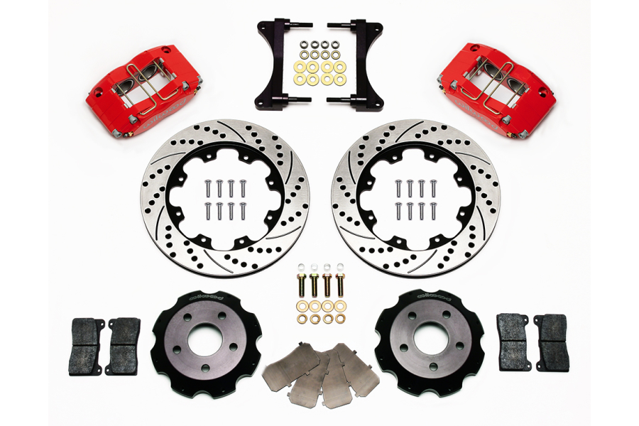 Wilwood Dynapro Radial 12.00in Front Kit Drilled / Slotted Red - Subaru Models (inc. 2002-2007 WRX)