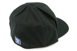 Sparco Hat Lid Black Small/Medium FlexFit Tuning ( Part Number:SPR2 SP13N)