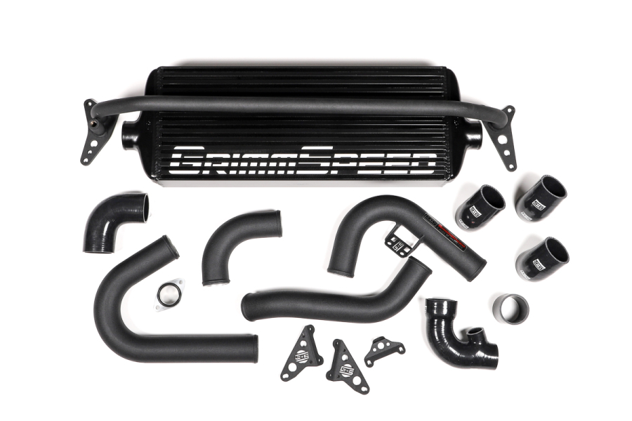 GrimmSpeed Front Mount Intercooler Kit Black Core w/ Black Piping - Subaru WRX 2015 - 2020