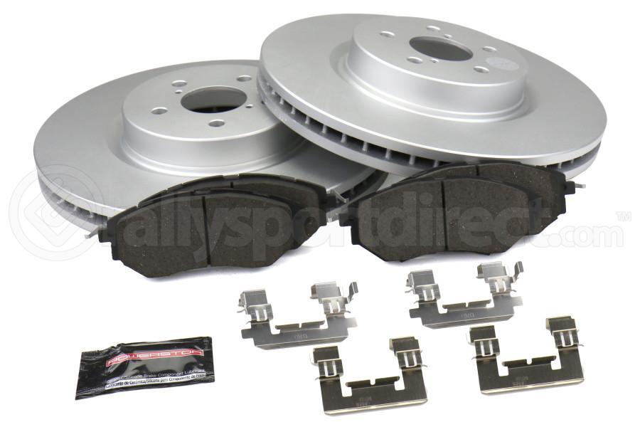 Power Stop Z17 Coated Brake Kit Front - Subaru Models (inc. 1998-2001 Impreza RS / 1997-2002 Legacy)