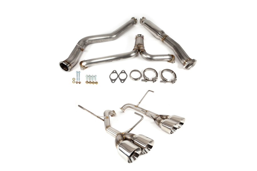 Nameless Performance Cat Back Exhaust System w/ Muffler Delete - Subaru WRX / STI 2015+