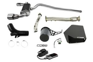 COBB Tuning Stage 3 Power Package w/Quad-Tip Exhaust Black - Mitsubishi Evo X 2008-2015