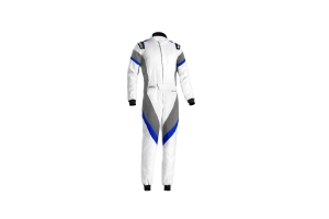 Sparco Victory Racing Suit White / Grey / Blue - Universal