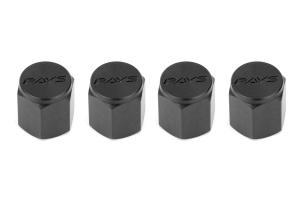 Volk Racing Rays Valve Stem Caps Black ( Part Number: WVALBK2)