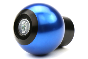 AutoStyled Shift Knob Black w/ Blue Aluminum Center - Ford Focus RS 2016+ / Ford Focus ST 2013+ / Ford Fiesta ST 2014+