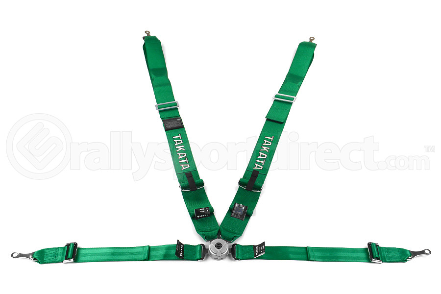Takata Race 4 4-Point Harness Green Bolt-On ( Part Number:TAK 71001-H2)