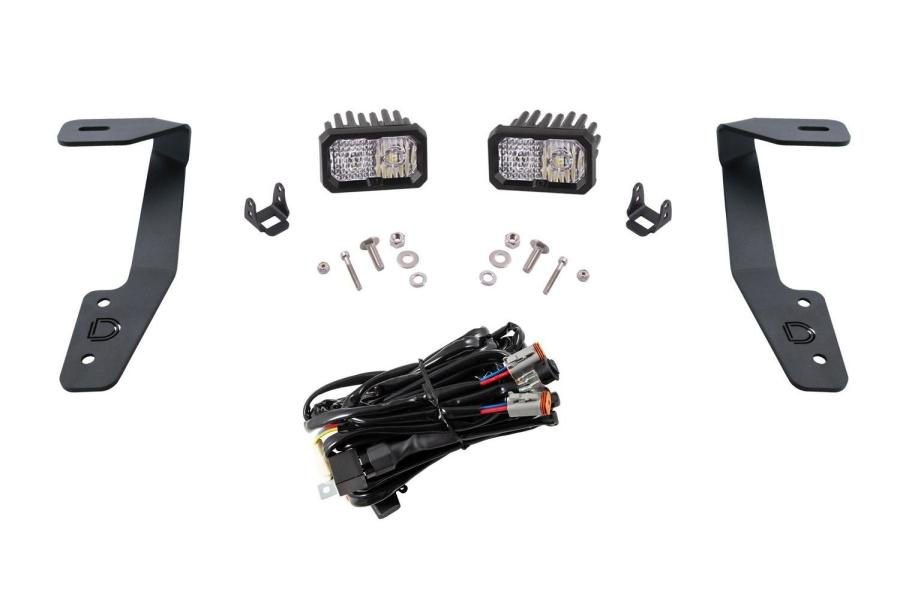Diode Dynamics Stage Series 2 Inch Ditch Light Kit Sport White Combo - Subaru Crosstrek 2018-2020