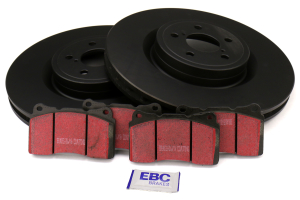 EBC Brakes S1 Front Brake Kit Ultimax2 Pads and RK Rotors - Subaru STi 2004
