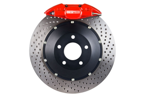 Stoptech ST-22 Big Brake Kit Rear 345mm Red Drilled Rotors ( Part Number:STP 83.842.002G.72)
