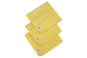 Chemical Guys Ultrafine Microfiber Towels Yellow (15inX15in) 3 Pack - Universal