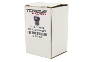 Torque Solution Fat Head Shift Knob Delrin Black - Subaru 6MT Models (inc. 2004+ STI / 2015+ WRX)