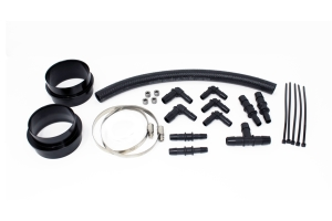 Torque Solution Turbo Inlet Hose Non-Recirculating 3in Black