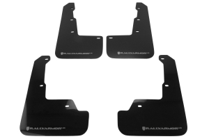 Rally Armor UR Mudflaps Black Urethane Silver Logo ( Part Number:RAL MF32-UR-BLK/SIL)