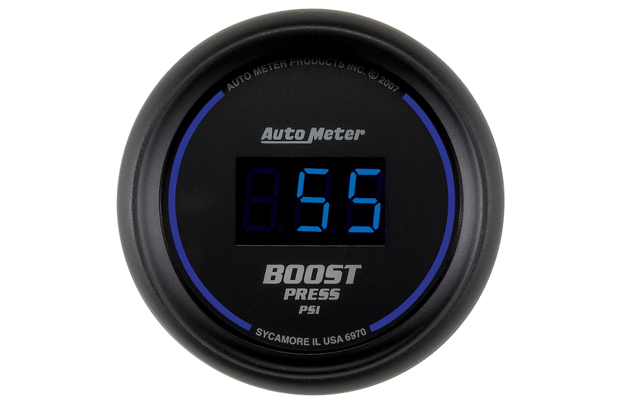 Autometer Cobalt Boost Gauge Digital Blue LED 52mm - Universal