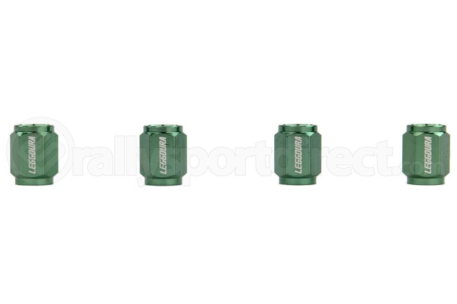 KICS Leggdura Racing Green Valve Cap (Part Number:WCKIVM)