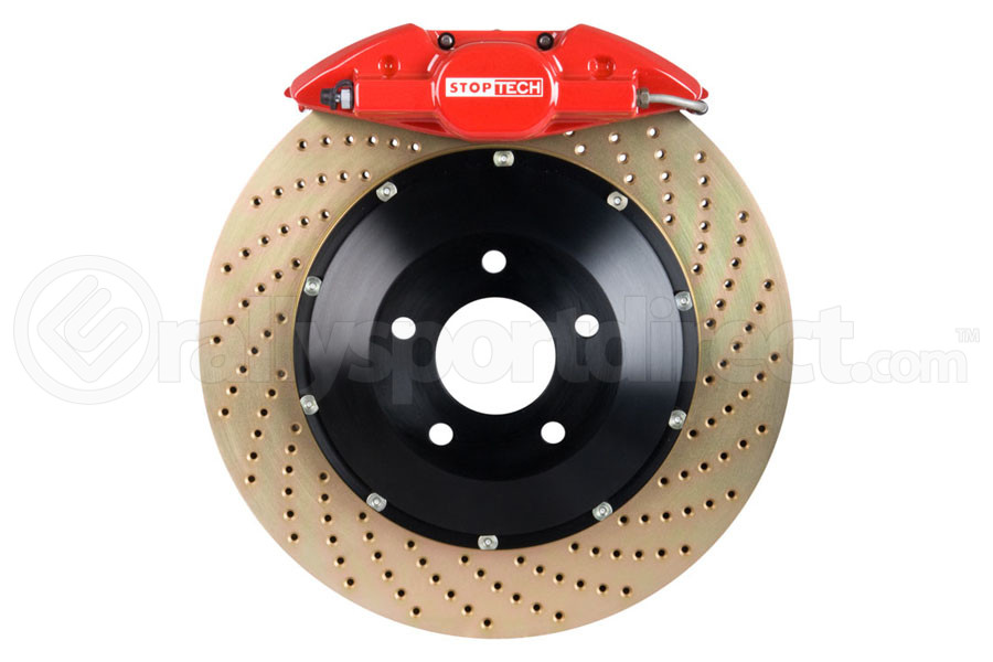 Stoptech ST-22 Big Brake Kit Rear 328mm Red Zinc Drilled Rotors (Part Number:83.836.0023.74)