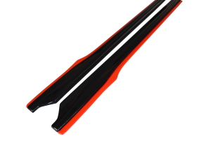 Maxton Design Redline Gloss Black Side Skirt Diffusers (Part Number: )