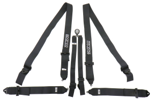 Sparco 6-Point Pull Up Harness Black - Universal