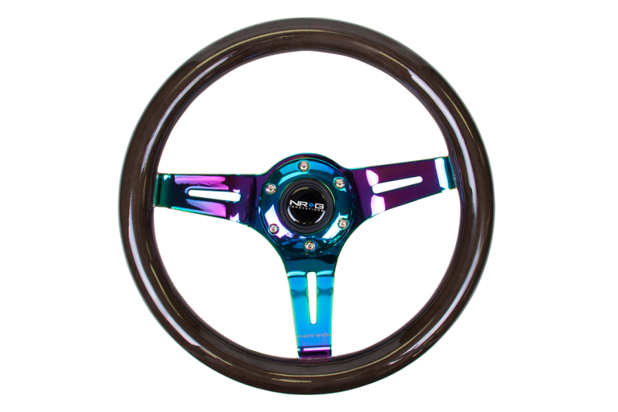 NRG Classic Wood Grain Wheel 310mm Neochrome / Black - Universal
