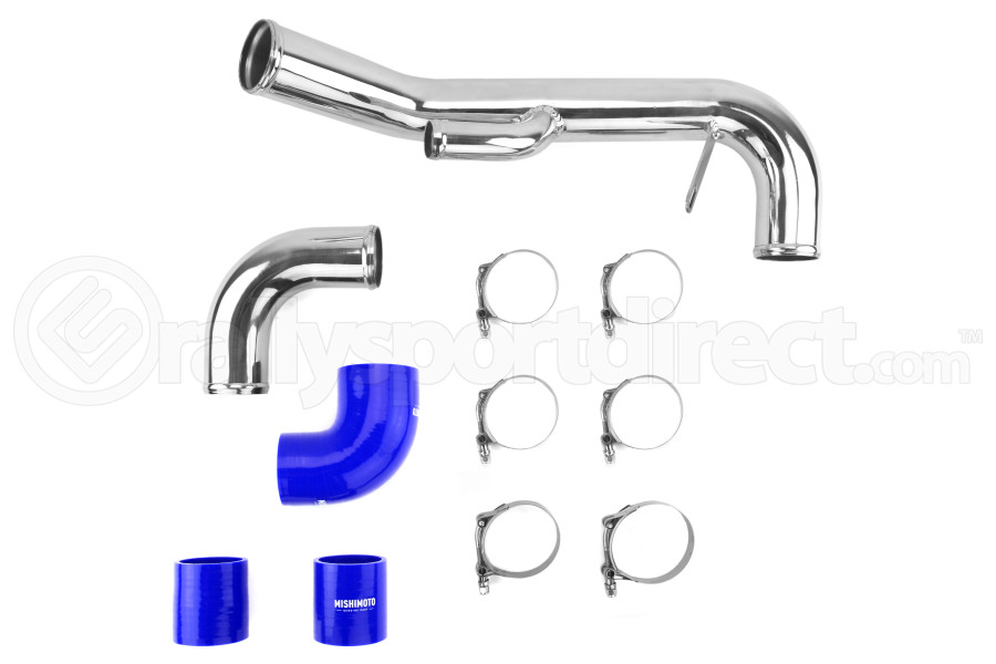 Mishimoto Lower Intercooler Pipe Blue (Part Number:MMICP-EVO-10LBL)