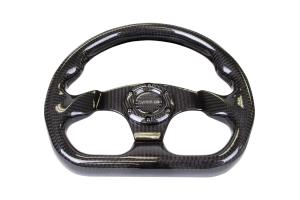 NRG Carbon Fiber Steering Wheel 320mm Flat Bottom Shiny Black - Universal