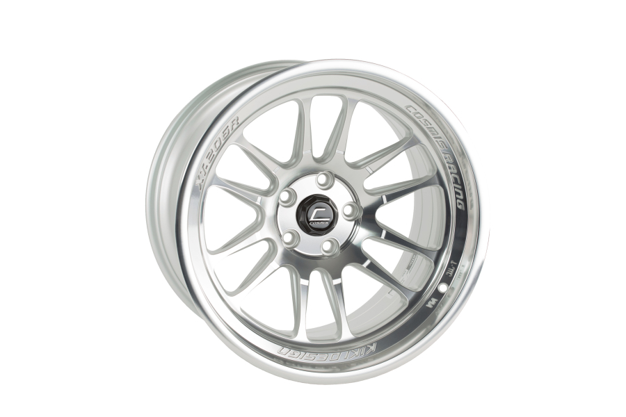 Cosmis Racing Wheels XT-206R 18x11 +8 5x114.3 Silver w/ Machined Face and Lip - Universal