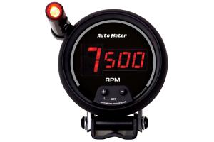 Autometer Sport-Comp Digital Pedestal Tachometer Gauge w/ Shift Light Red LED 3-3/4in - Universal