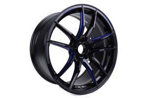 WedsSport RN-55M 19x9 +30 5x112 Black Blue Machine - Universal