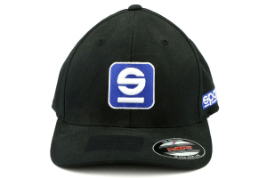 Sparco Hat Icon Black Small/Medium FlexFit Tuning - Universal