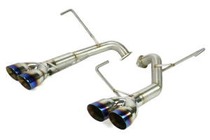 Nameless Performance 3in Tips Axleback Double Wall Neochrome/Titanium Tips ( Part Number: RSPD040)