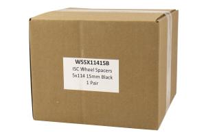 ISC Suspension Wheel Spacers 15mm 5x114 Black Pair (Part Number: )