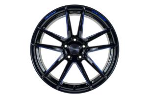 WedsSport RN-55M 18x9 +45 5x120 Black Blue Machine - Universal