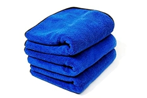 Chemical Guys Monster Extra Thick Microfiber Towels w/ Silk Edging (3 Pack) - Universal
