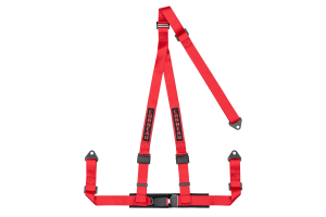 Corbeau 2 Inch 3-Point Bolt-In Harness Belt Red - Universal