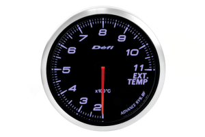 Defi Advance BF White Exhaust Temperature Metric 60mm Gauge (Part Number: )