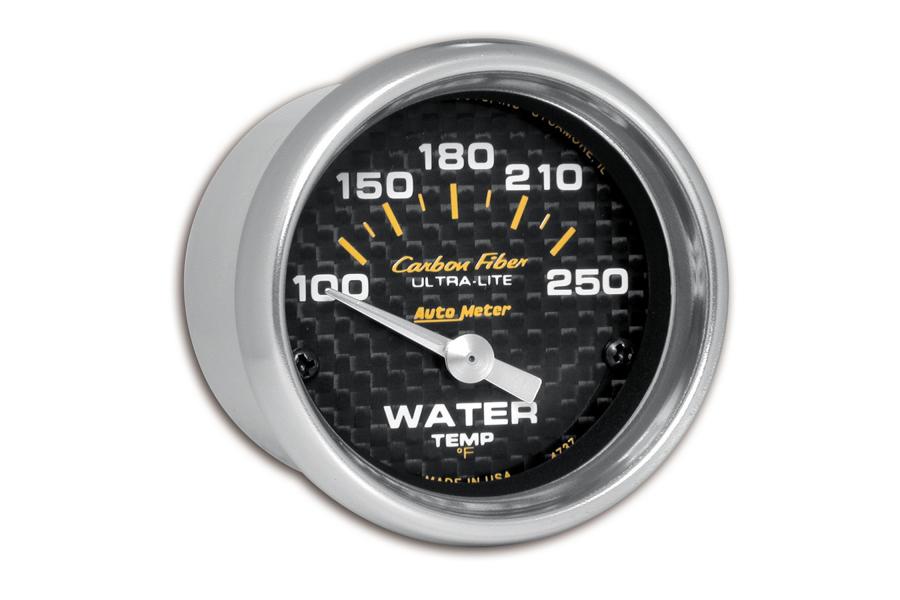 Autometer Carbon Fiber Water Temperature Gauge Electrical 52mm - Universal