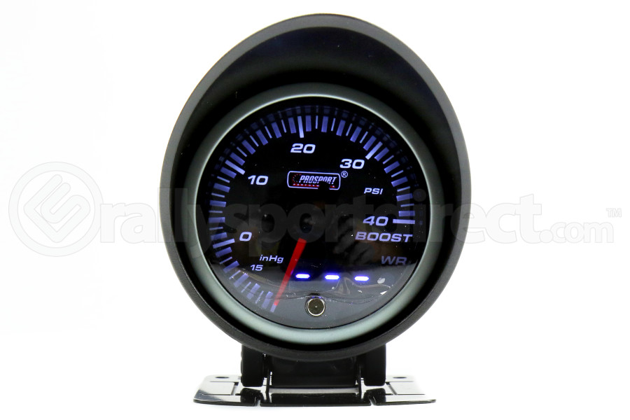ProSport Boost Gauge Dual Displa w/Waterproof Sender Amber/White 60mm (Part Number:238JDMBOR.PSI)