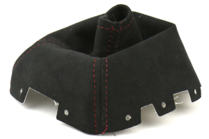 AutoStyled Black Alcantara Shift Boot w/ Red Stitching Short Shifter ( Part Number:ASA 1303060101)