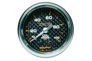 Autometer Carbon Fiber Oil Pressure Gauge Mechanical 52mm - Universal