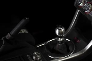 AutoStyled 6 Speed Shift Knob Black w/ Stainless Steel Center - Subaru STI 2004+ / Subaru WRX 2015+ / Subaru BRZ 2013+ / Scion FR-S 2013+ / Toyota 86 2017+