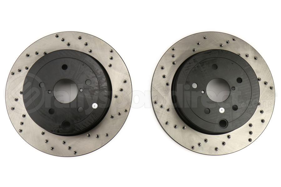 Stoptech Drilled Rotor Pair Rear - Subaru STI 2008-2017