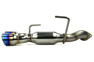 ETS Axle Back Exhaust System w/ Muffler Blue Tips (Part Number: 400-32)