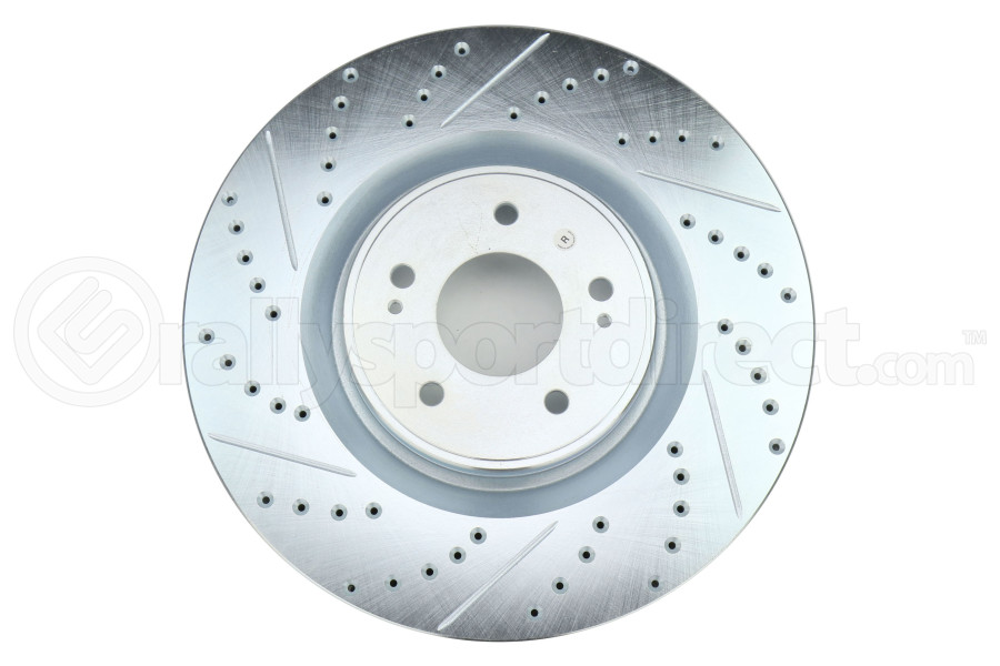 Stoptech C-Tek Sport Drilled and Slotted Rotor Single Front Right - Mitsubishi Evo X 2008-2015