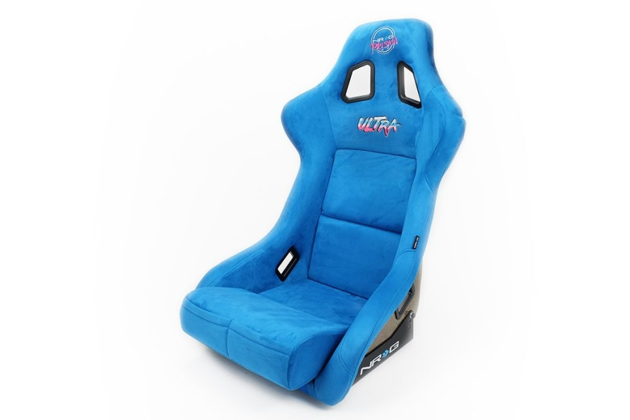 NRG Innovations FRP ULTRA Large Competition Alcantara Seat Blue - Universal