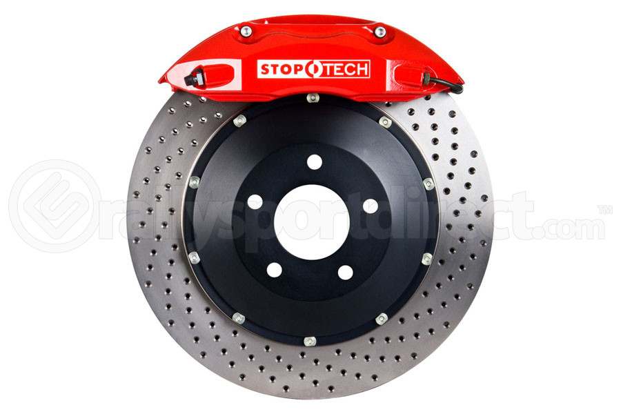 Stoptech ST-40 Big Brake Kit Front 355mm Red Drilled Rotors (Part Number:83.841.4700.72)