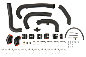 ETS Front Mount Intercooler Piping Kit Wrinkle Black - Subaru STI 2008 - 2014