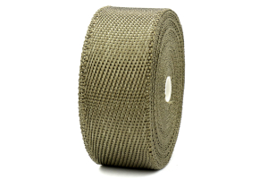 ProSport Titanium Header Wrap 50ftx2in Roll w/5 Stainless Steel Zip Ties ( Part Number: HEA-WRAP KIT-TIT-50)